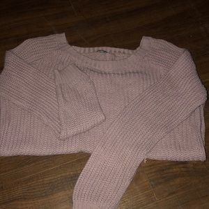 All pink knitted sweater